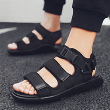New Unisex Style Adult Brand Fashion Men Sandals Street Canvas Hight Top Summer Hook&loop Beach Outdoor Casual Shoes