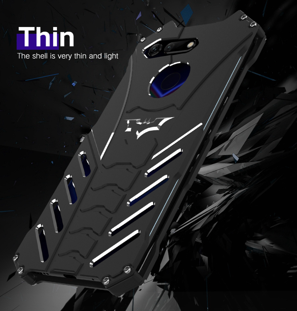 For Huawei Honor V9 Batman Luxury Aluminium Armor Metal Bumper Case For Huawei Honor V10 Coque For Huawei Honor V20 Back Cover image