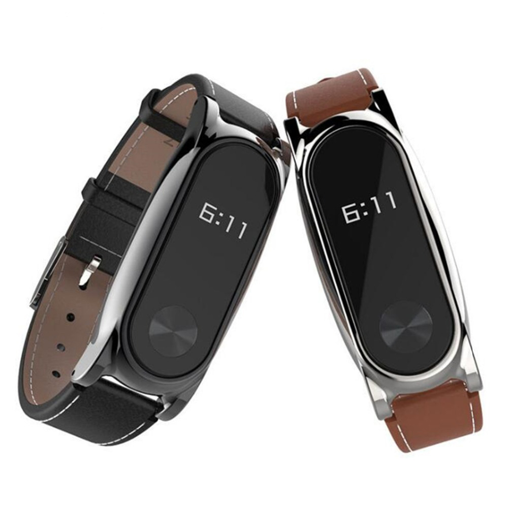 Leather Bracelet For Xiaomi Mi Band 2 Strap Miband 2 Wrist Strap Screwless Smartband Wristband For Xiaomi Mi Band2 Accessories
