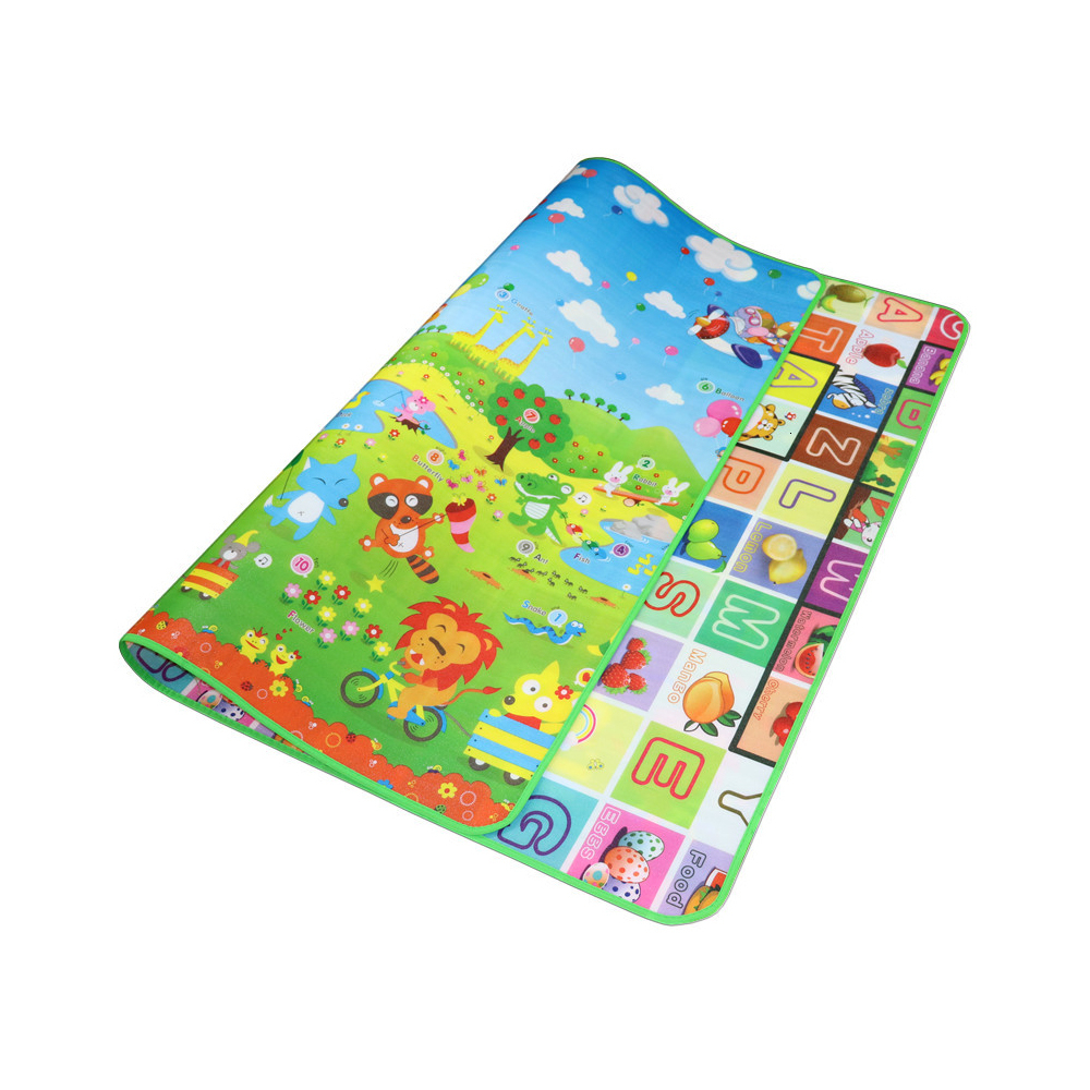 Baby Play Mat Crawling Mat Foldable Double Surface Baby Carpet Intellectual Developing Cartoon Carpet For Child Soft Game Pad