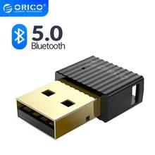 Orico sem fio usb bluetooth dongle adaptador 4.0 5.0 mini bluetooth música receptor de áudio transmissor para pc falante mouse portátil