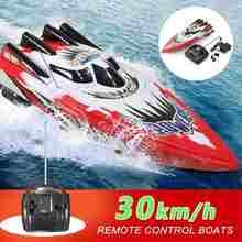 2.4ghz 4ch rc barco de controle rádio de corrida barco barco elétrico rc alta velocidade à prova dwaterproof água brinquedos para crianças presentes