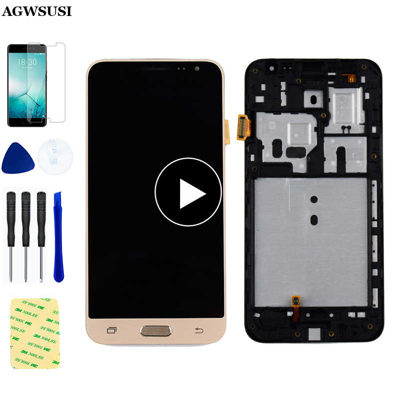 Voor Samsung Galaxy J3 2016 Lcd Display J320 J320F J320M J320A J320FN Panel J320H Lcd Touch Screen Digitizer Vergadering Frame