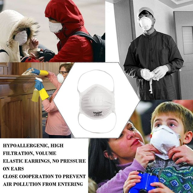 1Pcs KN95 Safety Protective Mask Dust Masks Anti-Particles Anti Bacteria PM2.5 Anti Flu Mask FFP2 Mouth Mask 4
