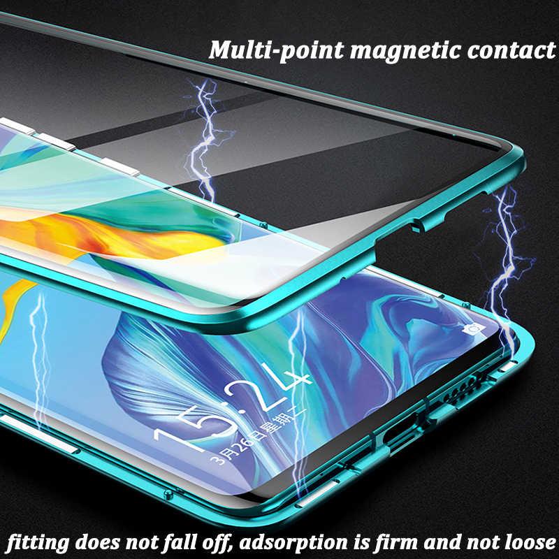 Magnetische Metall Adsorption Doppelseitige Fall Für Huawei P40 P30 P20 Mate 30 Mate 20 20 20I 20 9X V20 pro Lite Nova 7 SE 5I 5 Pro