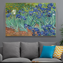 Irises Oil Paintings by Van Gogh Print On Canvas Art Posters And Prints Van gogh Famous Artwork Reproductions Flowers Pictures