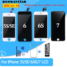 Pantalla LCD AAA ++ para iPhone 6, 5S, 6S, 7, 8 X, montaje de digitalizador LCD de repuesto para iPhone 5S, SE, 6, 6S, 7