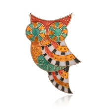 Gariton Vintage Colorful Owl Brooch Pin Enamel Animal Brooches For Women Fashion Accessories Jewelry 2019 New Arrival