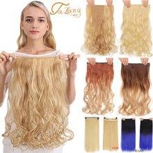 """Talang 24 """"длинные прямые волосы на клипсах синтетические"""
