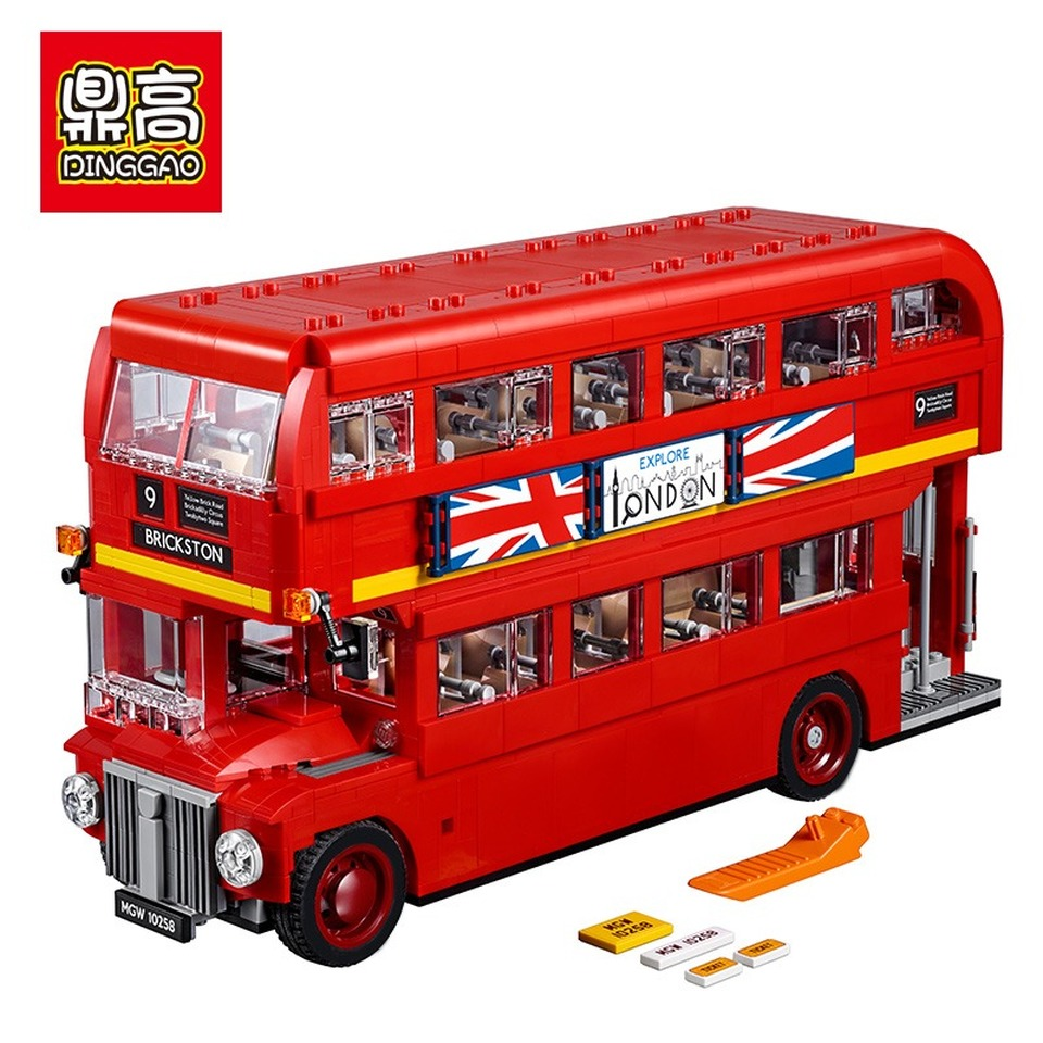 1266 1686pcs City Creator London Bus Building Block Bricks Toy Compatible LegoingLYs 10258 21045 DIY Toy Children Birthday Gifts