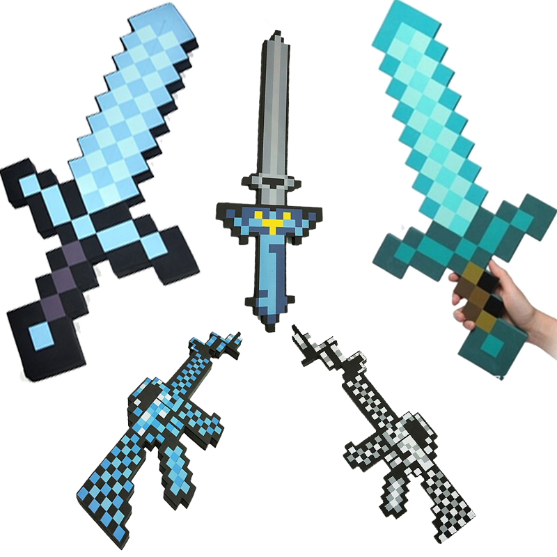 60cm High Quality Safe EVA Swords Perfect Swords Diamond Long Knife Action Party Toy Christmas Cool Gifts Kids