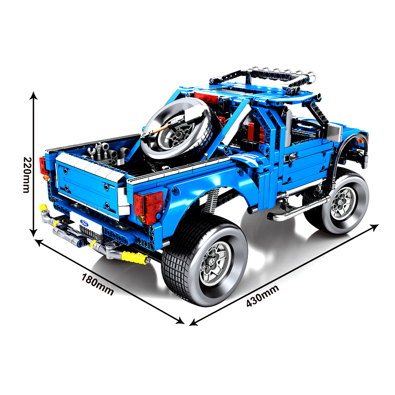 LegoEDS Technic 701970 F 150 Raptor Pickup Model Building Kit Stacking Blocks Expert Vehicle Educational Toys For Children Gifts in Blocks from Toys Hobbies
