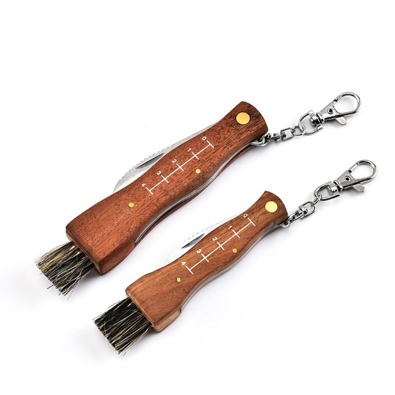 Mini Camping Mushroom Knife Rosewood Handle Outdoor Hunting Survival Multifunction Folding Self-defense Hand Tools