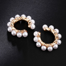 2020 New Trendy Gold Color Clip Earrings Without Piercing Earcuff Ear Clips Jewelry Pearl Clip on Earrings Ear Cuffs for Women