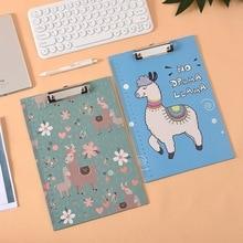 Paper Folder Clip-Board Writing-Pad School-Supplies Office Stationery Fresh Cartoon