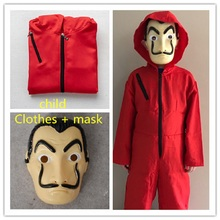 Salvador Dali Movie The House of Paper La Casa De Papel child adult Cosplay Party Halloween Mask Money Heist Costume & Face