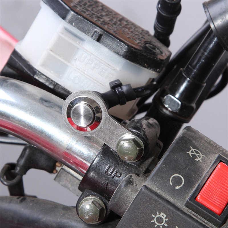 12V ไฟหน้า ON-OFF ปุ่มสำหรับรถแข่งไฟฟ้าจักรยานกันน้ำสวิทช์ Handlebar รถจักรยานยนต์ Mount Universal