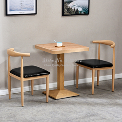 Nueva silla china de comedor de madera maciza de ceniza silla occidental silla de café té de la leche silla con cuernos mariposa silla de discusión