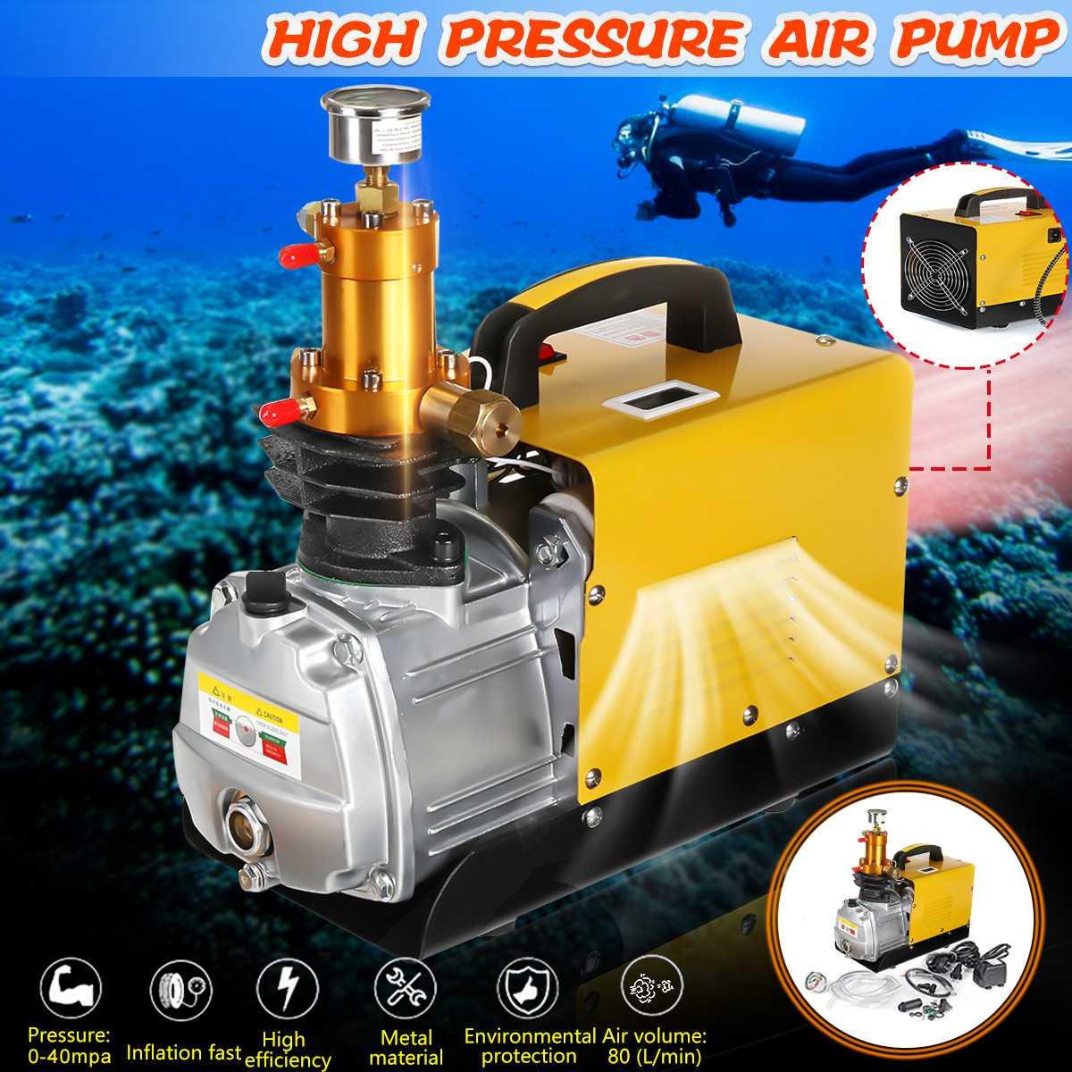 30MPA Portable High Pressure Air Pump Electric Air Compressor For Pneumatic Airgun Scuba Rifle PCP Inflator 220V