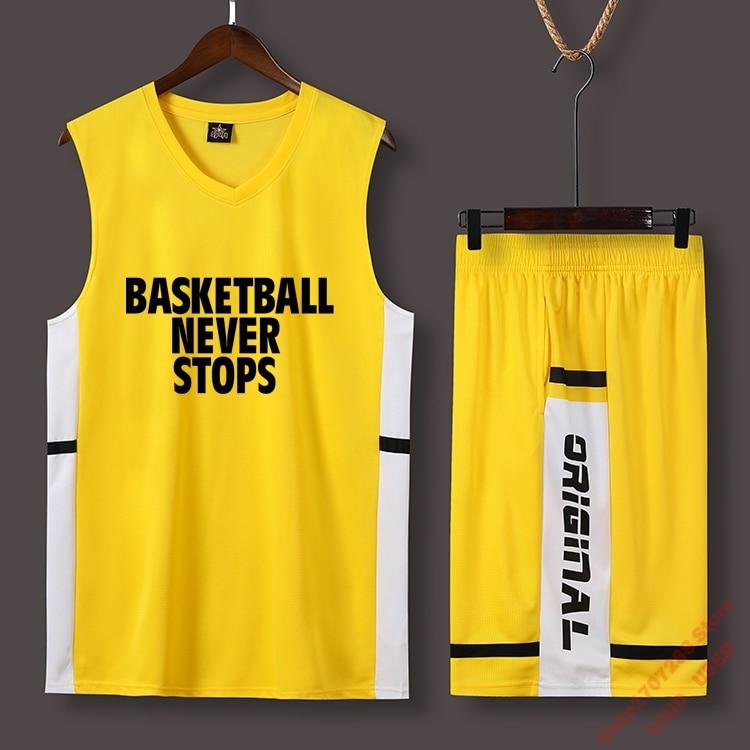 Roupa de Basquete Nova Terno Personalizado Estudante Campus Camisa Basquete Treinamento Wear Colete Esportivo
