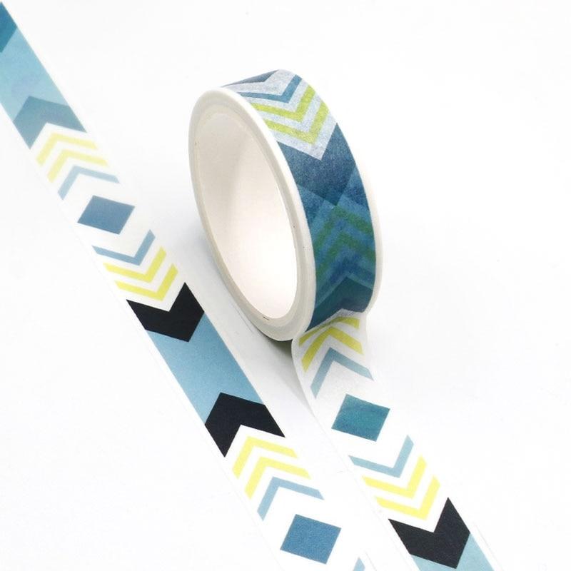 NEW Wholesale 10pcs/lot Decorative Geometric Arrow Washi Tapes DIY Scrapbooking Planner Adhesive Masking Tapes Kawaii Stationery