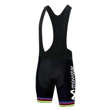 Shorts Movistar-Team Bicycle-Suit Cycling-Clothing Men Mtb-Uniform Silikone-Gel-Pad 12D