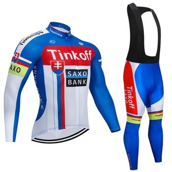 2019 Tinkoff equipo de manga larga de ciclismo conjunto de pantalones de...