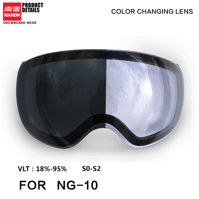 NANDN Ski Googles Lense NG10 Replacement Lens Standby Lens