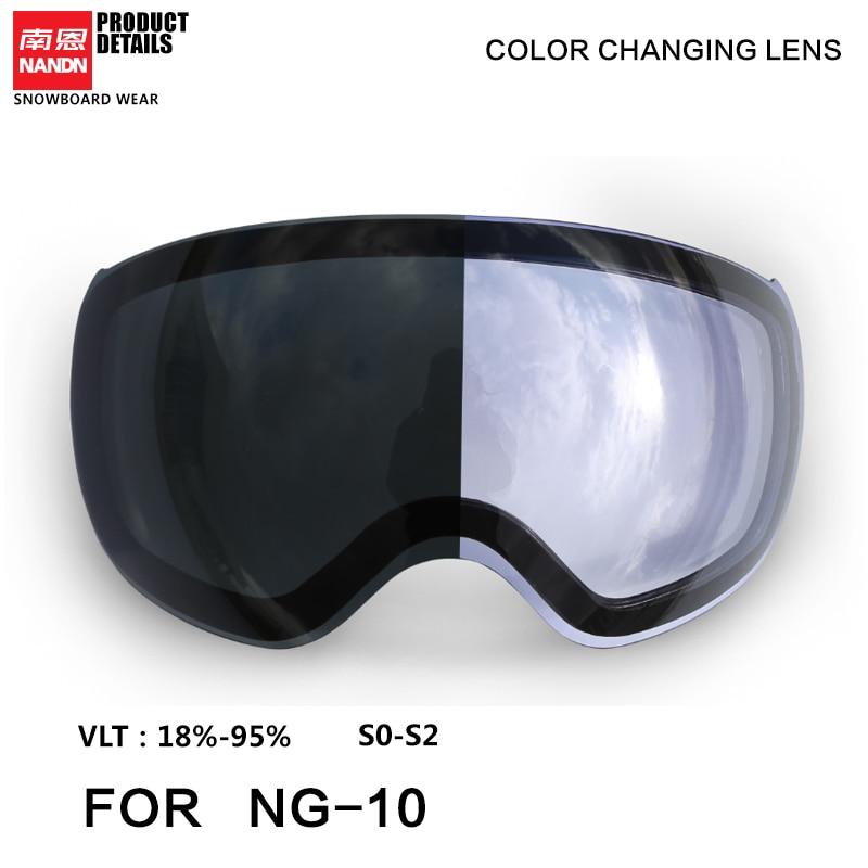 NANDN Ski Googles Lense NG10 Replacement Lens Standby Lens
