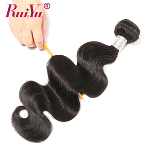 Image 3 - Peruvian Human Hair Bundles Body Wave bundles 8 28 Inch 1/3/4 Bundles Natural Color Remy Hair Extensions RUIYU Hair