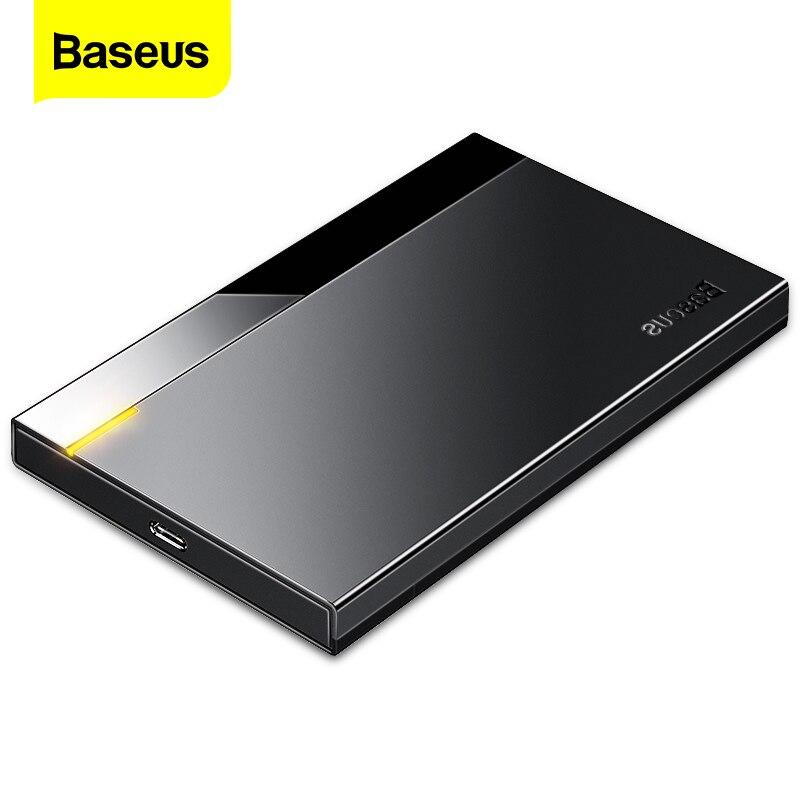 Baseus hdd caso 2.5 sata para usb 3.0 tipo c 3.1 adaptador hdd gabinete disco rígido externo caso 6 tb hd disco rígido ssd hdd caixa caddy