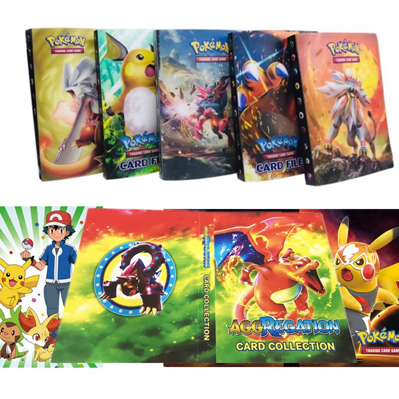 27 Style Pokemon Cards Album 240 Pcs Holder Album Cartoon Anime Pocket Monster Pikachu Toy For Kids Gift
