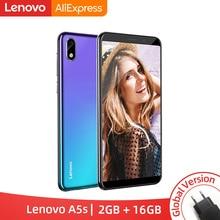 Version mondiale Lenovo A5S A5 S MTK6761 Quad core 5.45 pouces Smartphone 2GB 16GB ROM Android P Face ID 4G téléphone portable