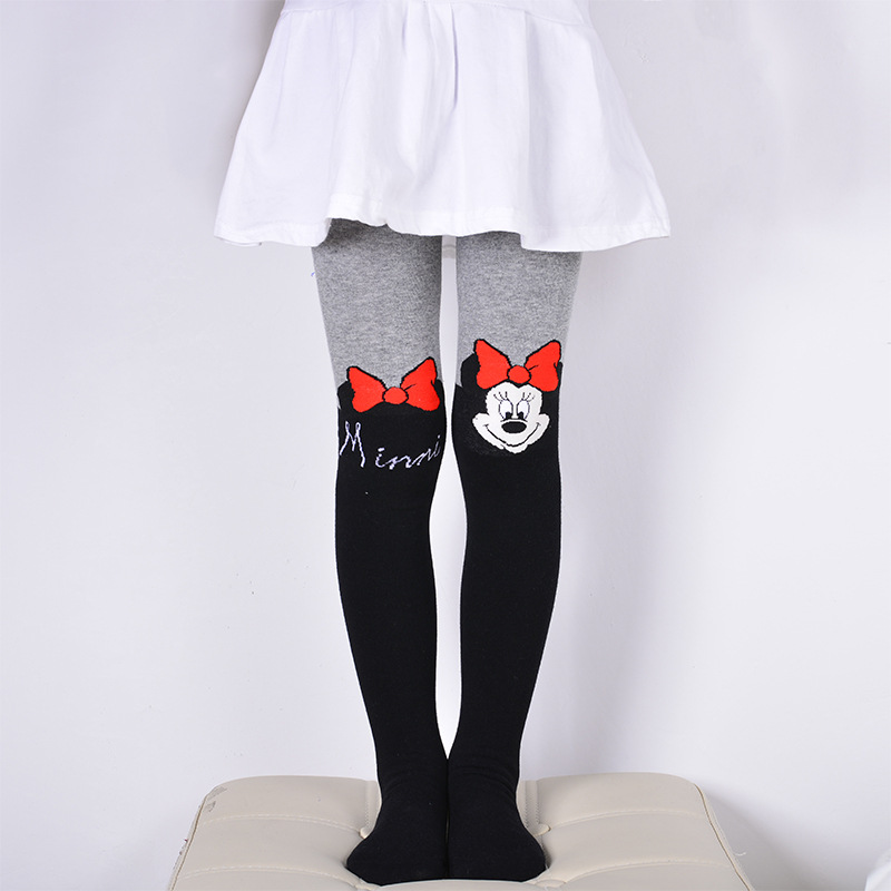Cotton Minnie Stockings For Girls Fashion Tight Solid Cute Cartoon Designs Tight Children Pantyhose Baby Girl Stockings Tight
