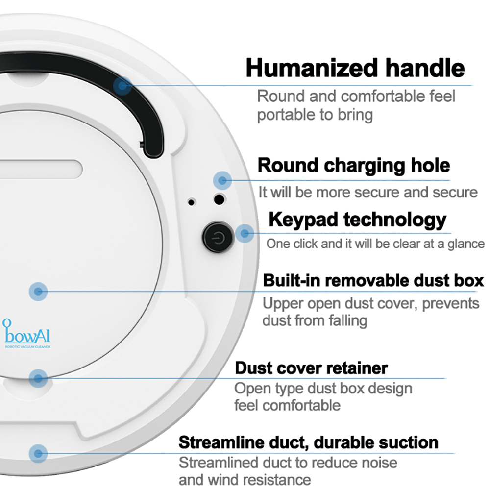 Multifunctional Smart Floor Cleaner, 3-in-1 Auto Rechargeable Intelligent Cleaning Robot Dry Wet Sweeping Vacuum Cleaner