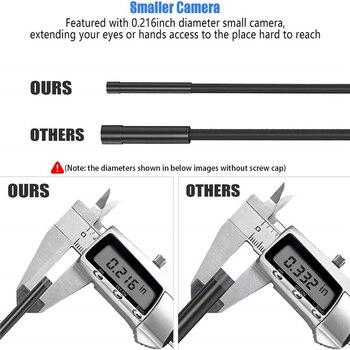 Endoscopio KZYEE WIFI cámara de inspección inalámbrica CÁMARA DE endoscopio y boroscopio Cable duro WIFI endoscopio para Android/IOS SmartPhone