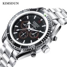 KIMSDUN Top Brand Luxury Mens Watch Fashion Trend Steel Strap Tourbillon Automatic Mechanical relogio masculino Men