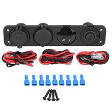 5 в 1a/21a двойное зарядное устройство usb вольтметр с прикуривателем
