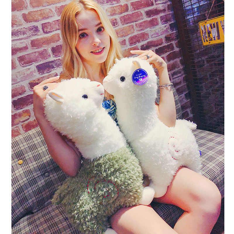 Kawaii arco-íris 25cm alpaca boneca de pelúcia brinquedos bonito lama alpacasso brinquedos de pelúcia japonês alpaca animal boneca de pelúcia crianças presente dos miúdos