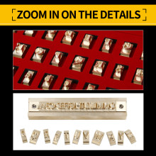 SMVAUON 2021 Custom Logo Brass Leather Stamp Letter Set Mold Hot Foil Copper Alphabet Carving Tools Customized Diy Set Mold
