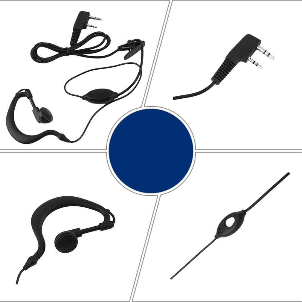 Novo 2 pinos microfone fone de ouvido ouvido gancho fone de ouvido para baofeng rádio uv 5r 888s