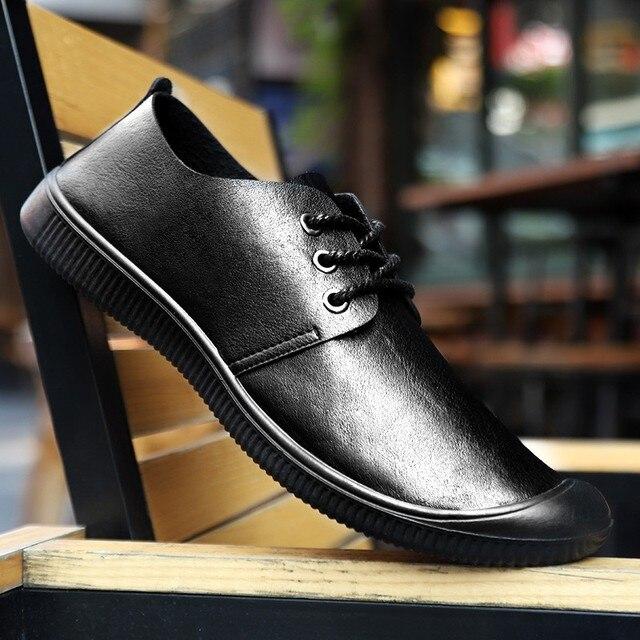 Фото мокасины мужские из экокожи повседневные туфли на плоской подошве цена