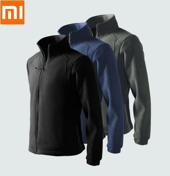 Xiaomi Men Fleece Warm Jacket Winter Outdoor Hooded Coat Softshell Hiking Outerwear Jackets
