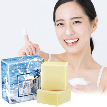 60g Sea Salt Soap Removal Pimple Pores Acne Treatment Cleaner Goat Milk Moisturizing Face Care Wash Basis For Skin Care TC121 100g sea salt soap handmade goat milk cleaner for face dry natural oily skin pimple pores removal acne treatment moisturizing