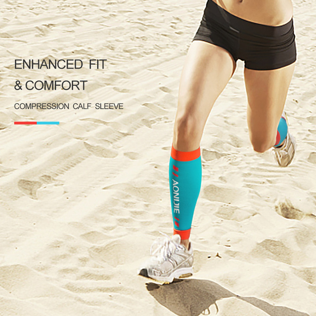 AONIJIE E4405 Knit Compression Leg Calf Sleeves Socks Shin Splint Support Relief For Running Jogging Marathon