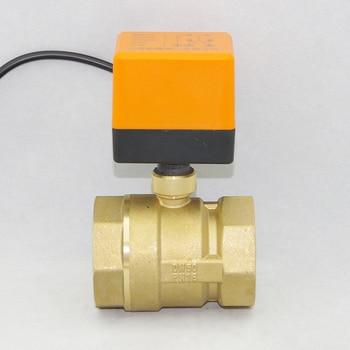 AC220V /24V DC12V/24V  2 way brass valve Motorized ball valve  Electric ball valve electric actuator  DN15 DN20 DN25 DN32 DN40 upvc 2 way dn40 plastic electric valve tf40 p2 c ac dc9 24v 2 wires 11 2 normal close valve 10nm on off 15 sec metal gear ce