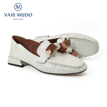 Women Pumps Shoes Vair Mudo Low-Heels Office White Classics-Style Casual Spring Career
