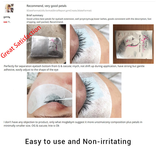 50/100pairs/Lot Eyelash Patches Eyelash Extension Lint Free Under Eye Gel Paper Patch for Eyelash Building Under Eye Lash Pads 1