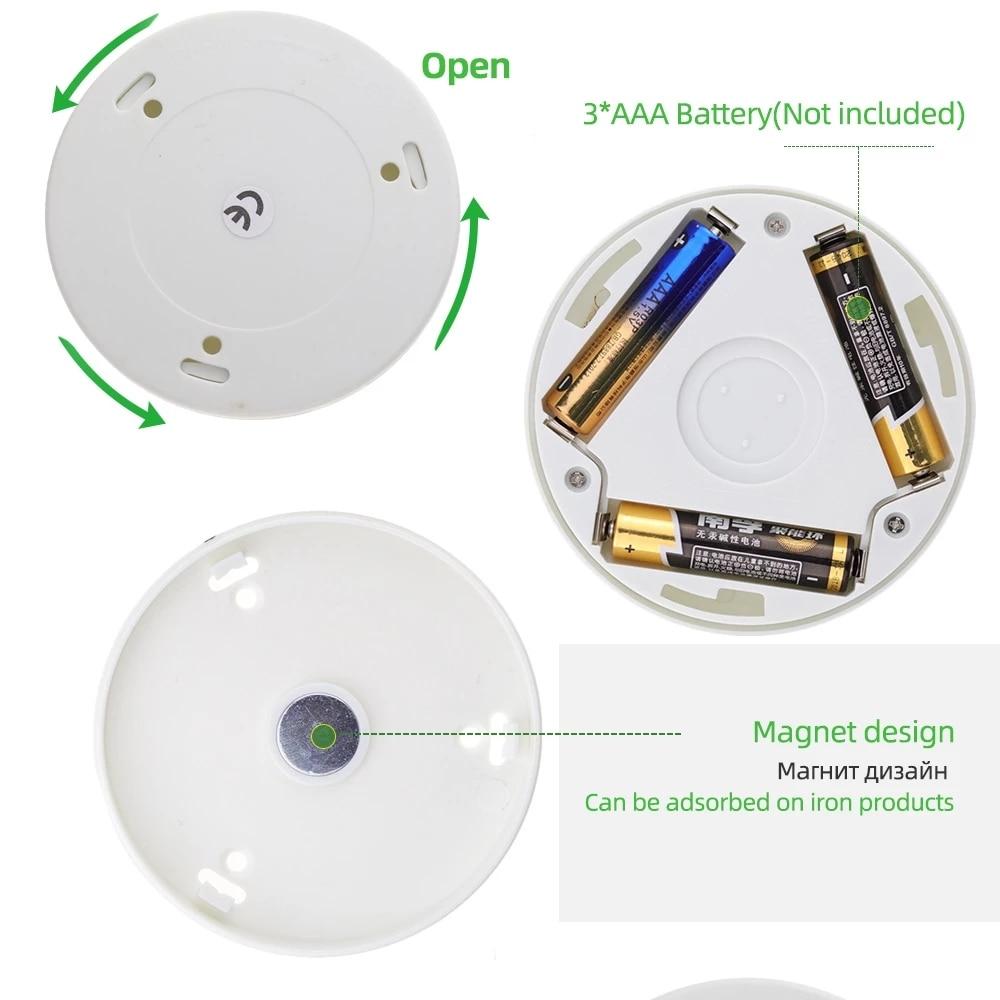 6LED Lamp Sensor wireless night lights bedroom decor light Detector wall decorative lamp staircase closet room aisle lighting