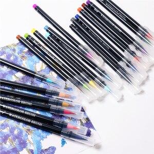 Image 5 - 20 Kleuren Schilderen Zachte Borstel Pen Aquarel Marker Pen Premium Art Markers Voor Coloring Kalligrafie Manga Manga Comic